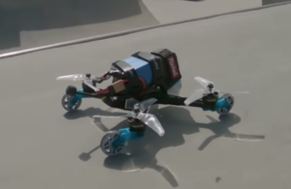 Rebel Graffiti Drone with wheels attached