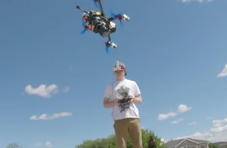 Amazing stunts with a drone