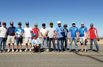 The Unlimited class pilots and crew before their trophy race