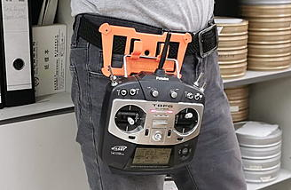 Hands free transmitter holster