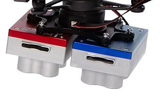 Comes standard with fixed bracket and quick-mount connector for easy integration with DJI drones
