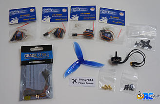 ProXy PC44 Combo includes MG servos, motor, ESC and a prop