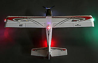 Realistic-looking LED landing, navigation and simulated strobe lights