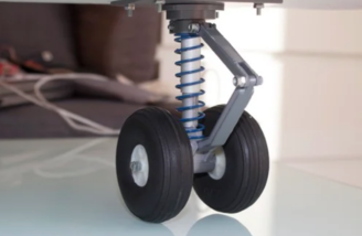 Finished landing gear includes steerable nose wheel parts