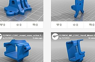 3D Printed Drone Camera Mount Designs