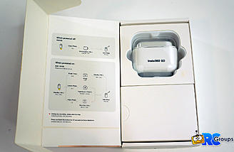 Inside the box you'll find the GO camera in its case