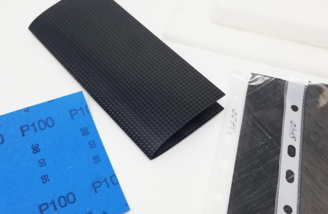 Nice selection of carbon patch materials and foam included