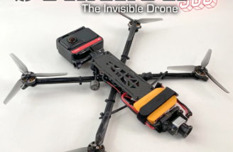 With Electronics, FPV and Insta360 One R Installed