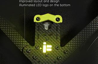 Nice layout and LED logo on bottom