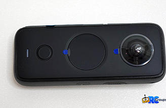 One X2 Back view with lens, touchscreen display, shutter button and status LED