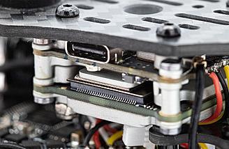 Caddx Vista video transmitter in the stack