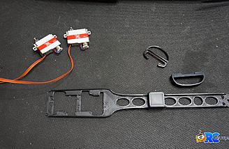 3D printed servo/ballast tray with KST X08H servos