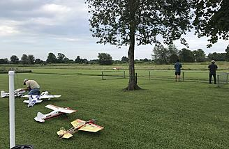 Nice grass runway to fly from