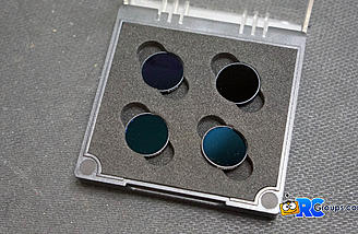 Optional ND Filters can be attached in place of the lens protector