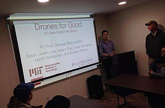 Presentation about using drones for humanitarian and environmental purposes.