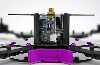 Transmitter mounted to frame