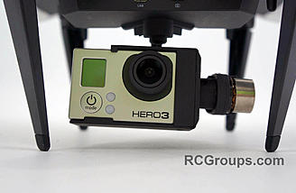 GoPro Hero3 installed