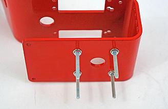 Rear frame screws installed