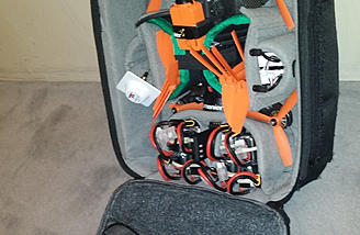 Drone Pak add-on hold your gear