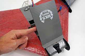 Battery hatch made from coroplast