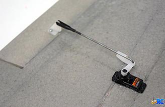 Aileron servo and control rod