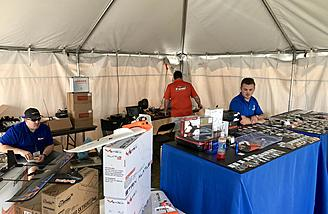 Planes and plenty of FPV accessories available at the ReadyMadeRC booth