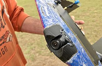 Camera mount is easy to install and protects the cam from crashes
