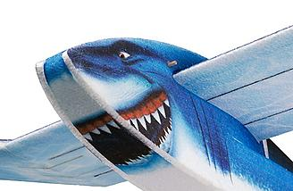 Painted shark face on the H-King EPP Shark Kit