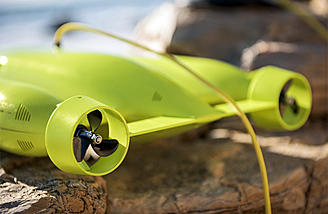 Gladius thrusters enable 4 knot speed and great agility in the water