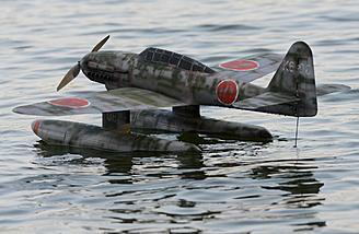 Aichi M6A Seiran floatplane on the water