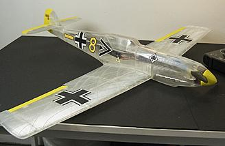 See through 3D printed Bf109 on the table