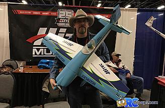 Jim T holding the Hitec Extra 330SC