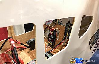 Full telemetry sensor setup in this demo plane