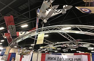 Check out the planes hanging in the BalsaUSA booth