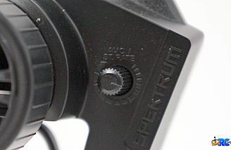 AVC adjustment knob on the DX2E radio