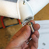 Install prop adaptor and tighten both sides