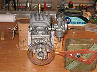 Name: IMG_0816.JPG Views: 43 Size: 698.4 KB Description: This was my arrangement for setting the ignition timing. The original carb is still fitted here. Replaced later with the Walbro in top picture.