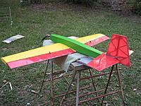 Name: Kaos painted.JPG Views: 28 Size: 472.7 KB Description: Ready for servos and pushrods. Might get to fly it next week.