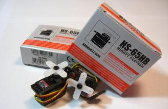 The included HS-65HB servos.  Super strong!