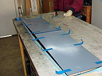 Name: DSC04088.jpg Views: 270 Size: 57.9 KB Description: Mylars cleaned and taped together.