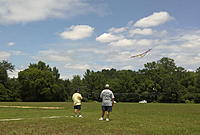 Name: Pulsar at SJSF.jpg Views: 255 Size: 234.5 KB Description: Launching my Pulsar 3.2m sailplane at a local ALES contest. I'm the short one in yellow shirt.