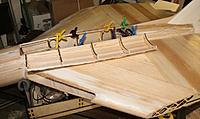 """Name: IMG_9167.JPG Views: 13 Size: 153.0 KB Description: Cut out the hatch and glued extra 1/8"""" balsa strips to the edge to beef it up."""