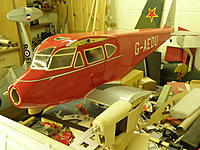 Name: Dragonfly 050.jpg Views: 229 Size: 228.8 KB Description: Cheat lined added the same way as fuselage reg letters - but drawn as required direct onto paper.