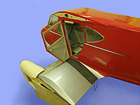 Name: Dragonfly 053.jpg Views: 227 Size: 157.2 KB Description: Top of fuselage complete. The walkway is emery cloth and the step is fixed - just a bit of bent wire for the quick effect. The real thing had one that was automatically stowed by the airflow.