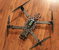"""Name: FPV Rev2 Assembly 7.JPG Views: 623 Size: 165.3 KB Description: Here's the V2 frame with extended arms. This frame is also available now. The example in the photo is shown with 10"""" props."""
