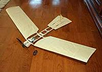 Name: 12-11-24_Fokker-Spin-3_4131.jpg Views: 90 Size: 6.4 KB Description: Top view of the Spin with 28 inch wingspan.