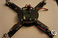 Name: DSC00886.jpg Views: 233 Size: 112.7 KB Description: Next I mounted the Top plate and then the FC and plug in the ESC's.