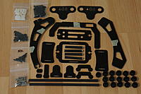 Name: X468 FlameGear 002.jpg Views: 456 Size: 163.0 KB Description: Parts included in the X468 FlameGear Camera mount/Landing Gear