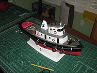 """Name: Helen.jpg Views: 184 Size: 286.8 KB Description: Stilwell's """"Helen"""" painted, fitted and ready for the water.  Tugboat"""
