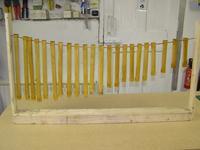 Name: stringers varnished.jpg Views: 406 Size: 75.2 KB Description: Stringers drying after being varnished